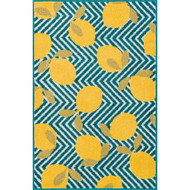 "Loloi Tilley Rug  HTI05 Blue / Yellow - 2'-5"" X 3'-9"" HEARTH"