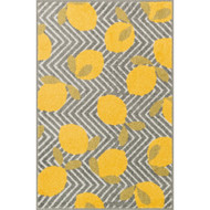 "Loloi Tilley Rug  HTI05 Grey / Yellow - 2'-5"" X 3'-9"" HEARTH"