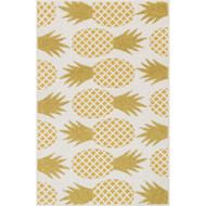 "Loloi Tilley Rug  HTI06 Ivory / Green - 2'-5"" X 3'-9"" HEARTH"