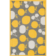"Loloi Tilley Rug  HTI08 Grey / Yellow - 2'-5"" X 3'-9"" HEARTH"