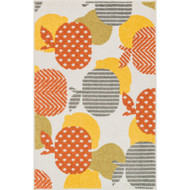 "Loloi Tilley Rug  HTI09 Ivory / Orange - 2'-5"" X 3'-9"""