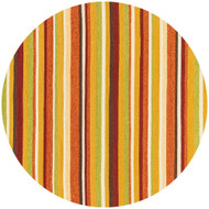 "Loloi Venice Beach Rug  VB-07 Sunset - 7'-10"" X 7'-10"" Round"