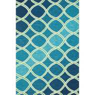 "Loloi Venice Beach Rug  VB-18 Blue / Green - 7'-10"" X 7'-10"" Round"