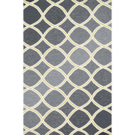 "Loloi Venice Beach Rug  VB-18 Charcoal / Lime - 9'-3"" X 13'"