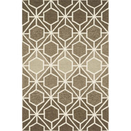 "Loloi Venice Beach Rug  VB-19 Brown / Beige - 7'-10"" X 7'-10"" Round"