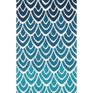 "Loloi Venice Beach Rug  VB-20 Blue / Multi - 7'-6"" x 9'-6"""