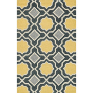 "Loloi Weston Rug  HWS01 Charcoal / Gold - 3'-6"" x 5'-6"""