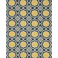 "Loloi Weston Rug  HWS01 Charcoal / Gold - 7'-9"" x 9'-9"""