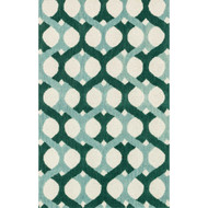 "Loloi Weston Rug  HWS04 Blue / Green - 3'-6"" x 5'-6"""