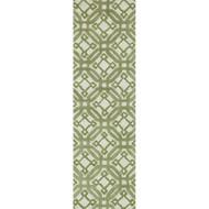 "Loloi Weston Rug  HWS06 Ivory / Green - 2'-3"" x 7'-6"""