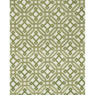 "Loloi Weston Rug  HWS06 Ivory / Green - 7'-9"" x 9'-9"""