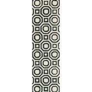 "Loloi Weston Rug  HWS07 Ivory / Black - 2'-3"" x 7'-6"""