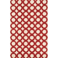 "Loloi Weston Rug  HWS08 Ivory / Red - 3'-6"" x 5'-6"""