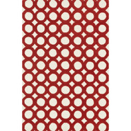 "Loloi Weston Rug  HWS08 Ivory / Red - 5'-0"" x 7'-6"""