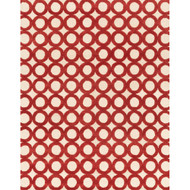 "Loloi Weston Rug  HWS08 Ivory / Red - 7'-9"" x 9'-9"""