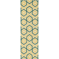 "Loloi Weston Rug  HWS11 Lemon / Aqua - 2'-3"" x 7'-6"""