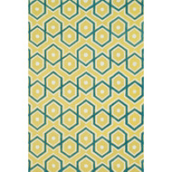 "Loloi Weston Rug  HWS11 Lemon / Aqua - 7'-9"" x 9'-9"""