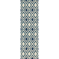 "Loloi Weston Rug  HWS13 Ivory / Blue - 2'-3"" x 7'-6"""