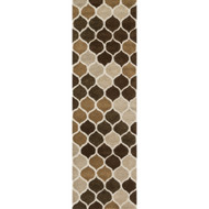 "Loloi Weston Rug  HWS15 Neutral / Brown - 2'-3"" x 7'-6"""