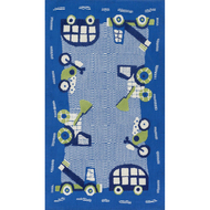 """Loloi Zoey Rug  HZO02 Blue / Green - 3'-0"""" x 5'-0"""""""