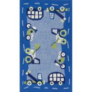 """Loloi Zoey Rug  HZO02 Blue / Green - 5'-0"""" x 7'-0"""""""