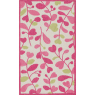 "Loloi Zoey Rug  HZO05 Pink / Green - 2'-0"" x 3'-0"""