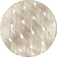 Paragon Woven Aged Gold Round