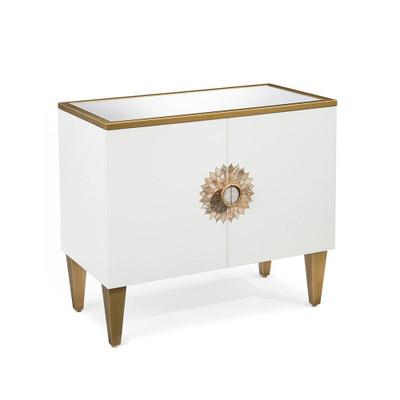 John Richard Tyrol Two-Door Side Cabinet in Ice White