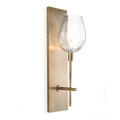 John Richard Glass Globe One-Light Wall Sconce