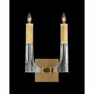 John Richard Acrylic and Brass Two-Light Wall Sconce