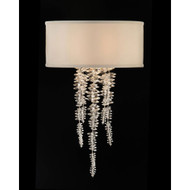 John Richard Cascading Crystal Waterfall One-Light Sconce
