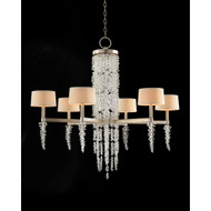 John Richard Cascading Crystal Waterfall Six-Light Chandelier
