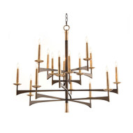 John Richard Mid-Century Sixteen-Light Chandelier