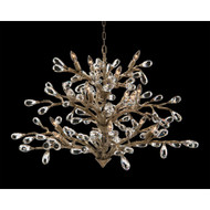 John Richard Budding Crystal Sixteen-Light Chandelier