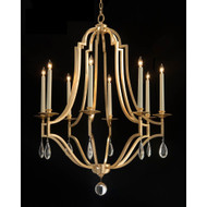 John Richard Gold-Leaf and Crystal Chandelier