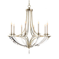 John Richard Bent-Crystal Eight-Light Chandelier