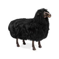 Leon Sheep Sculpture - Black