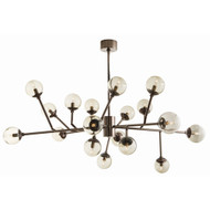 Dallas Chandelier - Brown Nickel