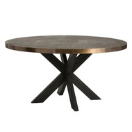 Halton Dining Table - Antique Brass