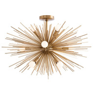 Zanadoo Fixed Chandelier - Antique Brass