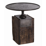 Anvil Cast Iron And Reclaimed Wood Side Table