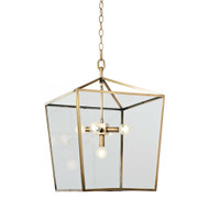 Camden Lantern - Natural Brass