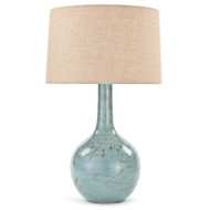 Fluted Lamp - Robin Egg Blue