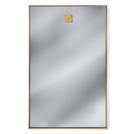Hanging Rectangle Mirror - Brass