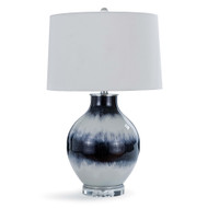 Indigo Stripe Glass Table Lamp