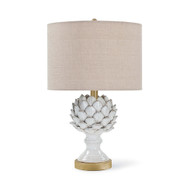 Leafy Artichoke Ceramic Table Lamp - Off White