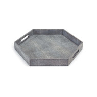 Shagreen Hex Tray - Charcoal