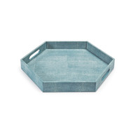 Shagreen Hex Tray - Turquoise