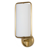 Regina Andrew Geo Rectangle Sconce - Natural Brass