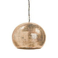 Regina Andrew Pierced Metal Sphere Pendant - Natural Brass